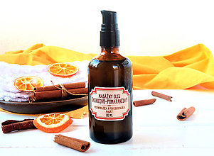 Drogéria - Masážny olej škoricovo-pomarančový (100 ml) - 8892838_