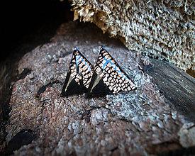 Náušnice - Trojuholníky 20 mm MINIMAL (bronz) - 8895751_