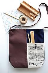 Veľké tašky - Textilná taška Dragonfly - 8895024_