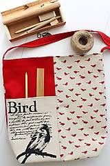 Veľké tašky - Textilná taška Bird - 8895059_