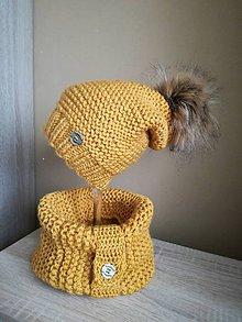 Detské čiapky - horčicova  čiapočka - 8893083_