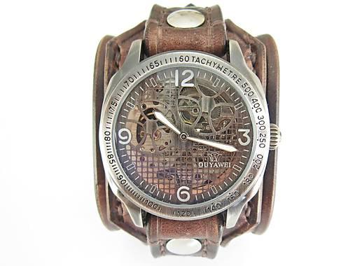 4b5e07db0 Steampunk hodinky, hnedý kožený remienok / leon - SAShE.sk ...