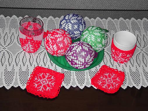 c85c4952e26 Pletené vianočné gule   HankineHabky - SAShE.sk - Handmade Dekorácie