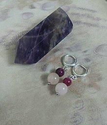 dc57a25aa Náušnice - Ruženín +ružový Achát náušnice - 8893546_