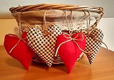 Dekorácie - Vianočné srdiečka - 8893705_