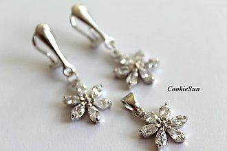 """Sady šperkov - Sada """"Zircon Flowers"""" - 8895672_"""
