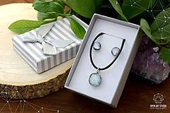 Sady šperkov - Strieborná sada sklenených šperkov - 8895160_