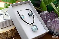 Sady šperkov - Strieborná sada sklenených šperkov - 8895163_