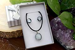 Sady šperkov - Strieborná sada sklenených šperkov - 8895164_