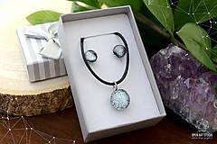 Sady šperkov - Strieborná sada sklenených šperkov - 8895167_