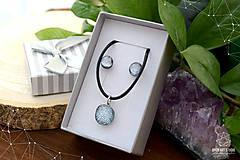 Sady šperkov - Strieborná sada sklenených šperkov - 8895182_