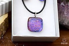 Sady šperkov - Fialovo-ružová sada sklenených šperkov II. - 8895194_
