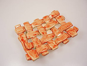 Nádoby - Mydlovnička pletená  (Červená) - 8897807_