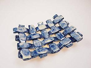 Nádoby - Mydlovnička pletená  (Modrá) - 8897817_