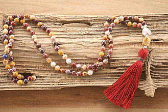 Náhrdelníky - Mala náhrdelník jaspis mookait - 8899900_