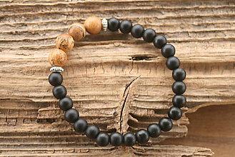 Šperky - Náramok onyx a jaspis - 8899991_