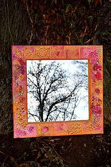 Zrkadlá - Maľované zrkadlo Ráno - 8900219_