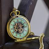 Iné - Mechanické vreckové hodinky s krúžkovanou reťazou (24) - 8901641_