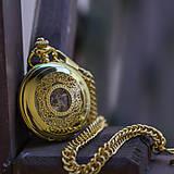 Iné - Mechanické vreckové hodinky s krúžkovanou reťazou (24) - 8901642_