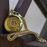 Iné - Mechanické vreckové hodinky s krúžkovanou reťazou (24) - 8901643_