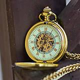 Iné - Mechanické vreckové hodinky s krúžkovanou reťazou (24) - 8901644_