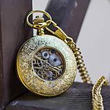 Iné - Mechanické vreckové hodinky s krúžkovanou reťazou (24) - 8901645_