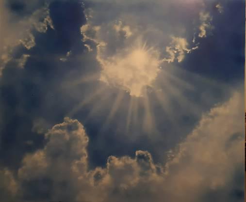 Slnko cez mraky - NAMAĽOVANÉ!