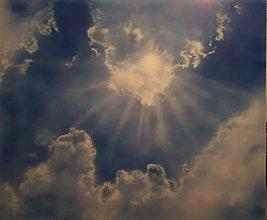 Obrazy - Slnko cez mraky - NAMAĽOVANÉ! - 8901409_