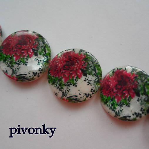 Perleť.placka 20mm-kvety-1ks (pivonky)