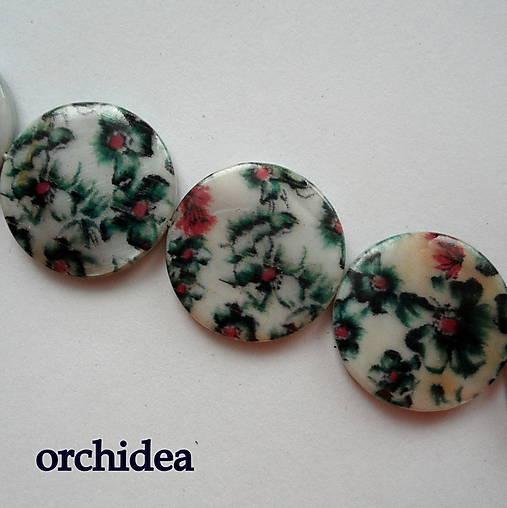 Perleť.placka 20mm-kvety-1ks (orchidea)