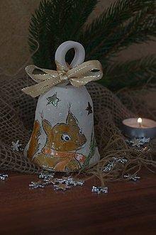 Dekorácie - zvonček s veveričkou - 8898478_