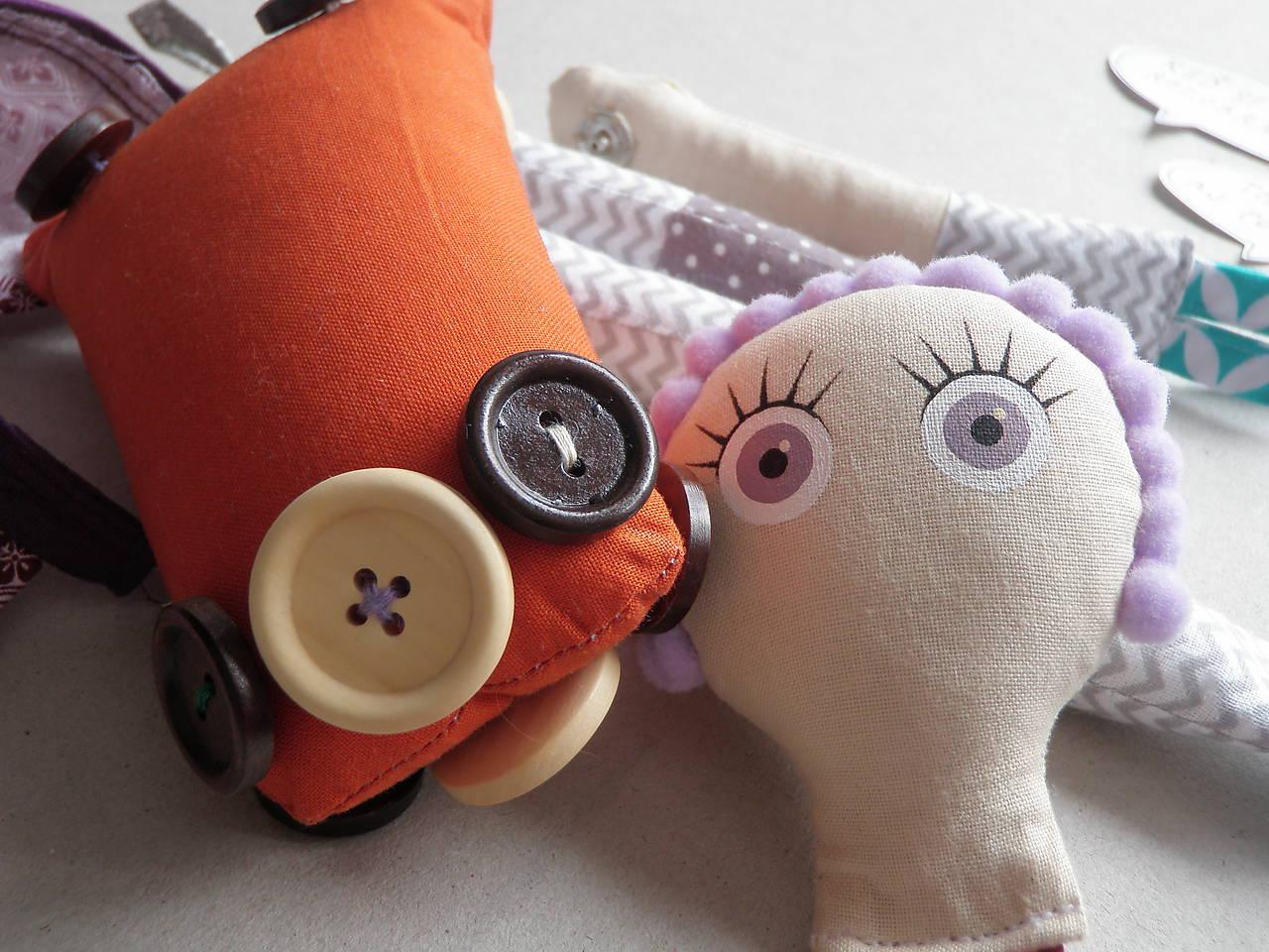 Gombíková bábika  Lilla Levanduľová