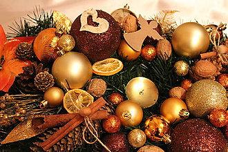 """Dekorácie - Vianočná ikebana-svietnik """"medená čokoládka"""" - 8900404_"""