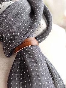 Doplnky - Elegantný a hrejivý čiernošedý obojstranný šál - 8898811_