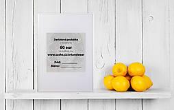 Darčekové poukážky - Darčeková poukážka v hodnote 60 eur - 8899571_