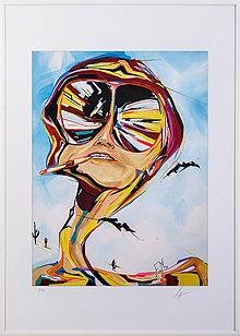 Dekorácie - Print A3 na papieri A2 z originál obrazu Fear and loathing - 8899439_