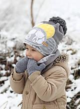 Detské čiapky - Hrejivý setík s líškami - 8898554_