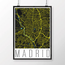 Obrazy - MADRID, moderný, čierny - 8898693_