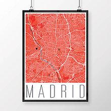 Obrazy - MADRID, moderný, červený - 8898879_