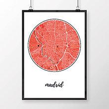 Obrazy - MADRID, okrúhly, červený - 8898893_