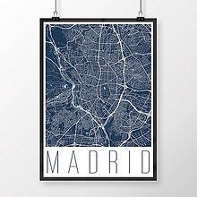 Obrazy - MADRID, moderný, tmavomodrý - 8899720_