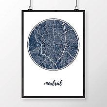 Obrazy - MADRID, okrúhly, tmavomodrý - 8899728_