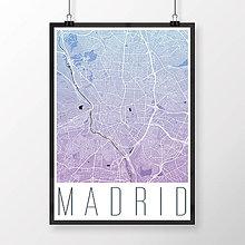 Obrazy - MADRID, moderný, modro-fialový - 8899999_