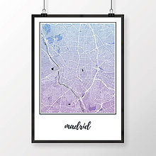 Obrazy - MADRID, klasický, modro-fialový - 8900005_