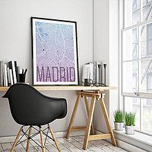 Obrazy - MADRID, elegantný, modro-fialový - 8900020_
