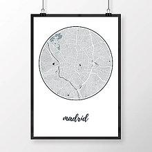 Obrazy - MADRID, okrúhly, svetlomodrý - 8900359_