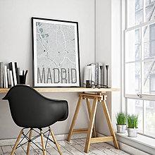Obrazy - MADRID, elegantný, svetlomodrý - 8900368_