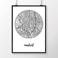 Obrazy - MADRID, okrúhly, biely - 8901071_