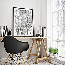 Obrazy - MADRID, elegantný, biely - 8901087_