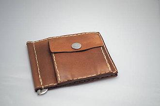 Peňaženky - Pánská kožená peňaženka DOLAROVKA -ořech - 8897604_